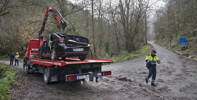 accidente de tráfico en el pantano de susqueda