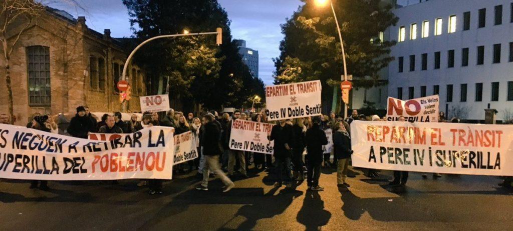 Protesta superilla Poble Nou