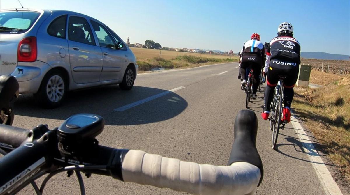 caída ciclista